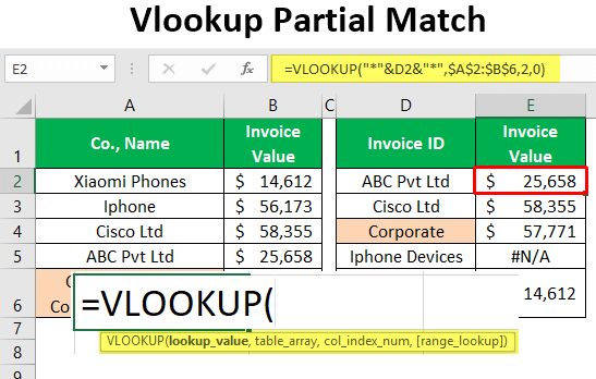 VLOOKUP Partial Match