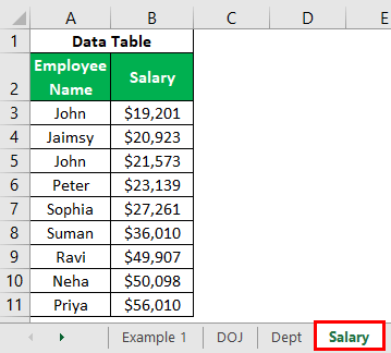 VLOOKUP on Different Sheets Example 1.14