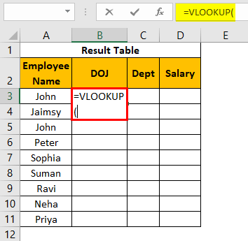 VLOOKUP on Different Sheets Example 1.16