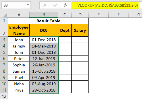 VLOOKUP on Different Sheets Example 1.20