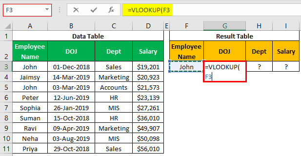 VLOOKUP on Different Sheets Example 1.3.0