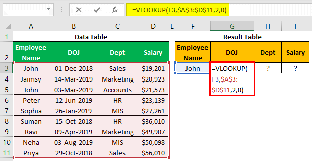 VLOOKUP on Different Sheets Example 1.7.0
