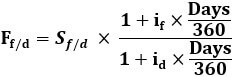 Covered Interest Rate Parity Formula