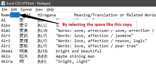 Example 1-8 (Select Space)