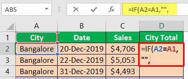 Excel Group Sum - Example 2-3