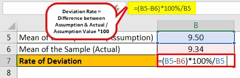 Null Hypothesis Formula Example 3.1