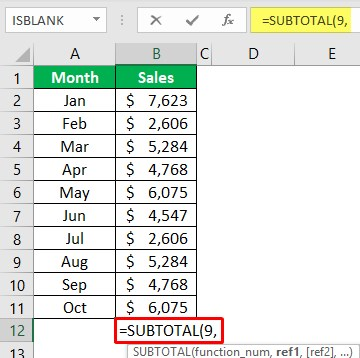 Using Subtotal Function 1-1