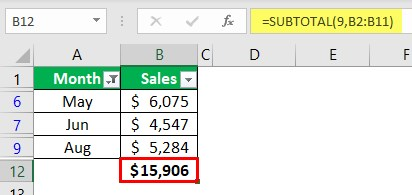 Using Subtotal Function 1-5