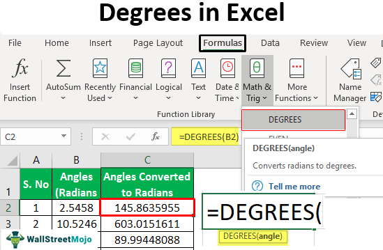 Degrees-in-Excel