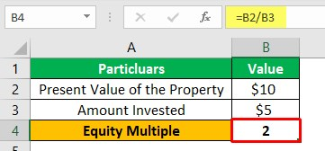 Equity Multiple Example 1