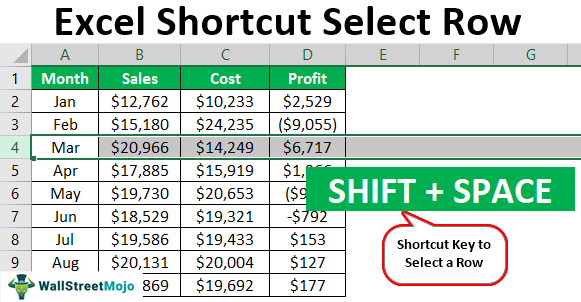 Excel-Shortcut-to-Select-Row
