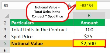 Notional Value Example 1