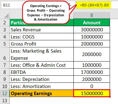 Operating Earnings Example 1.1