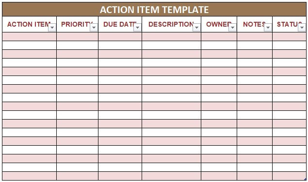 Action Item Template
