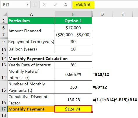 Owner Financing Example 1.1
