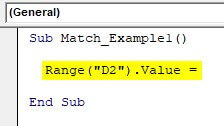VBA Application match Example 1-1