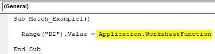 VBA Application match Example 1-2