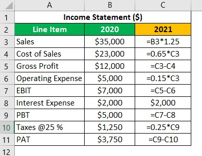 Financial Projection Example 1.1