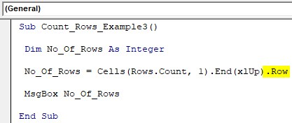 VBA Row Count Example 3-4