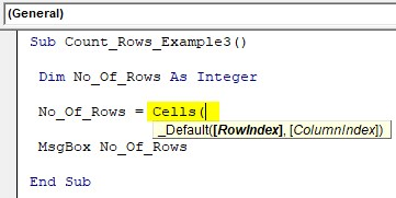 VBA Row Count Example 3
