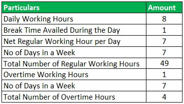 Hourly Paycheck Calculator Example