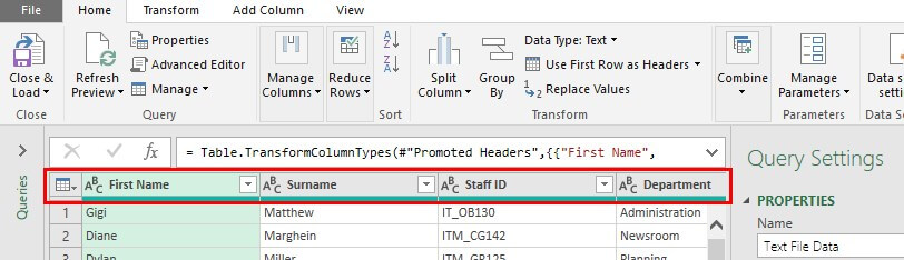 Excel Power Query Tutorial Example 1.11