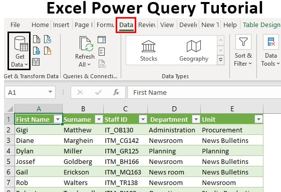Excel Power Query Tutorial