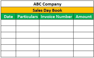 Sales Day Book Format 1