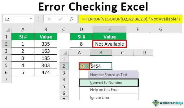 Find Errors in Excel