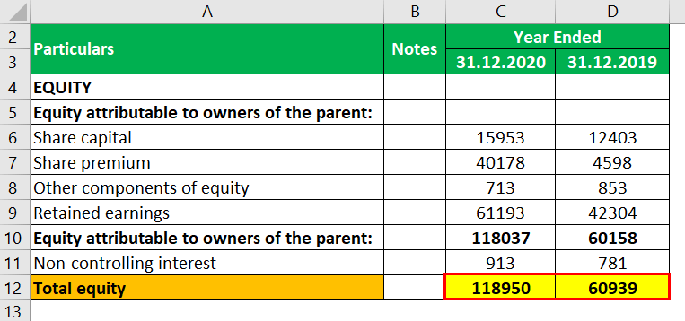 Capital account Example