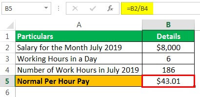 Holiday Pay Example 1.1