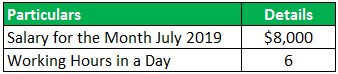 Holiday Pay Example