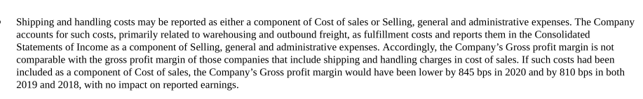 Colgate - Shipping and Handling Cost
