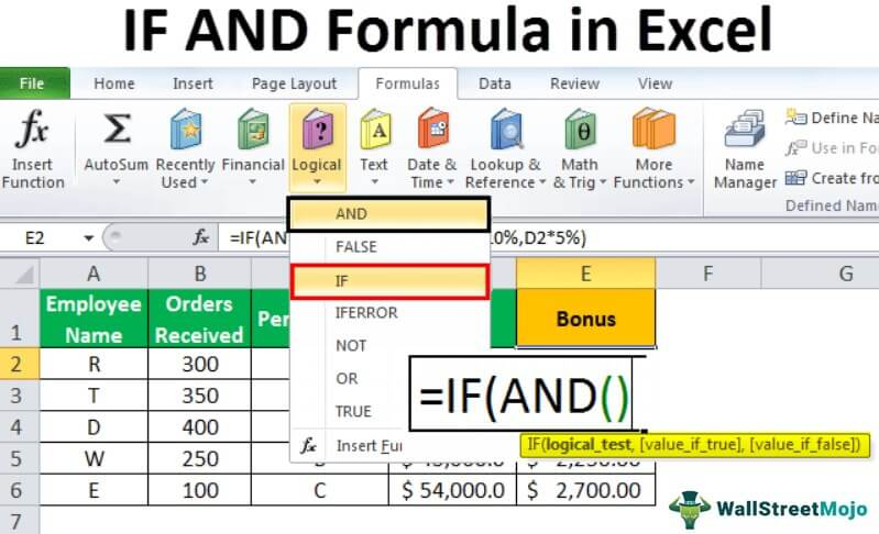 IF AND in Excel